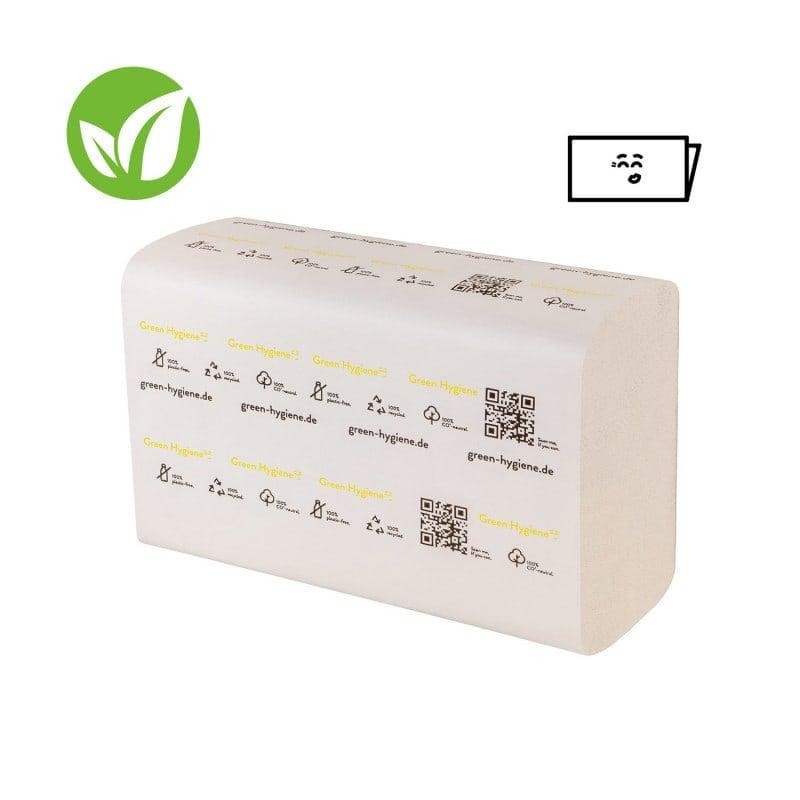 Die Recycling-Falthandtücher INGEBORG bestehen zu 100% aus Altpapier