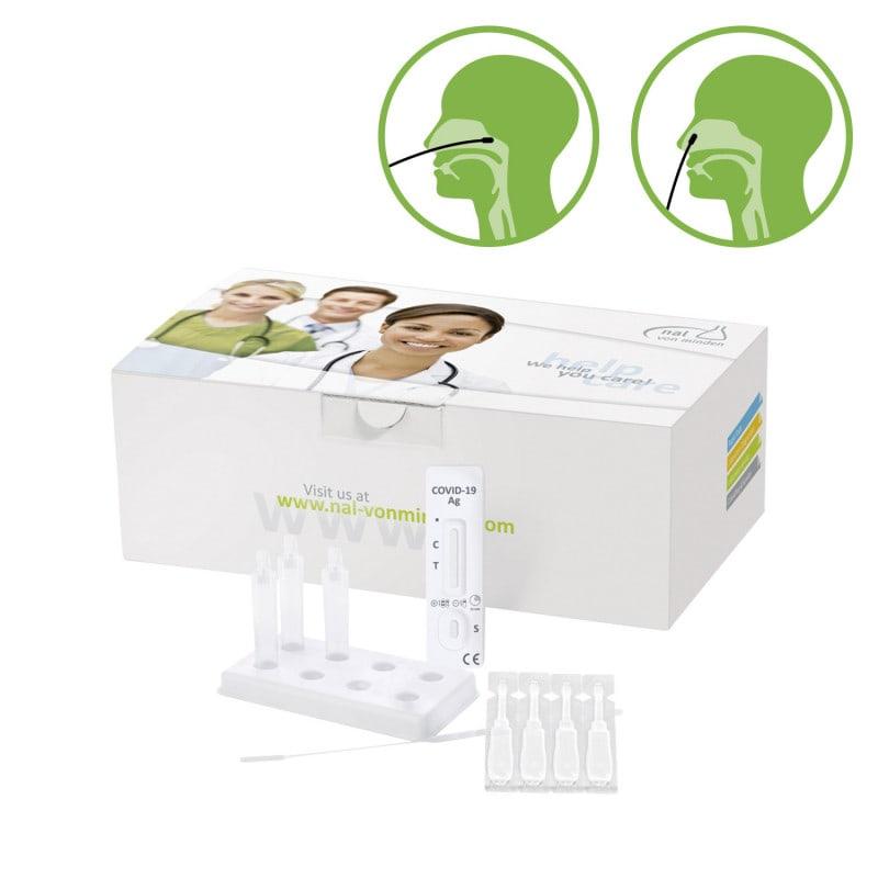 Prueba NADAL® Covid-19 Ag plus para uso con hisopados nasales, nasofaríngeos u orofaríngeos