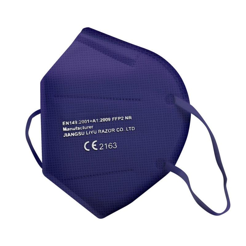 Mascherina FFP2 colorata certificata con struttura pieghevole e senza valvola