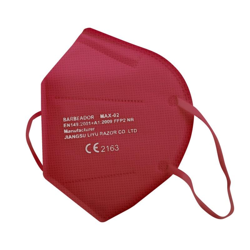 Mascarilla FFP2 de color sin válvula con una capacidad de filtrado mínima del 94%, en atractivos colores