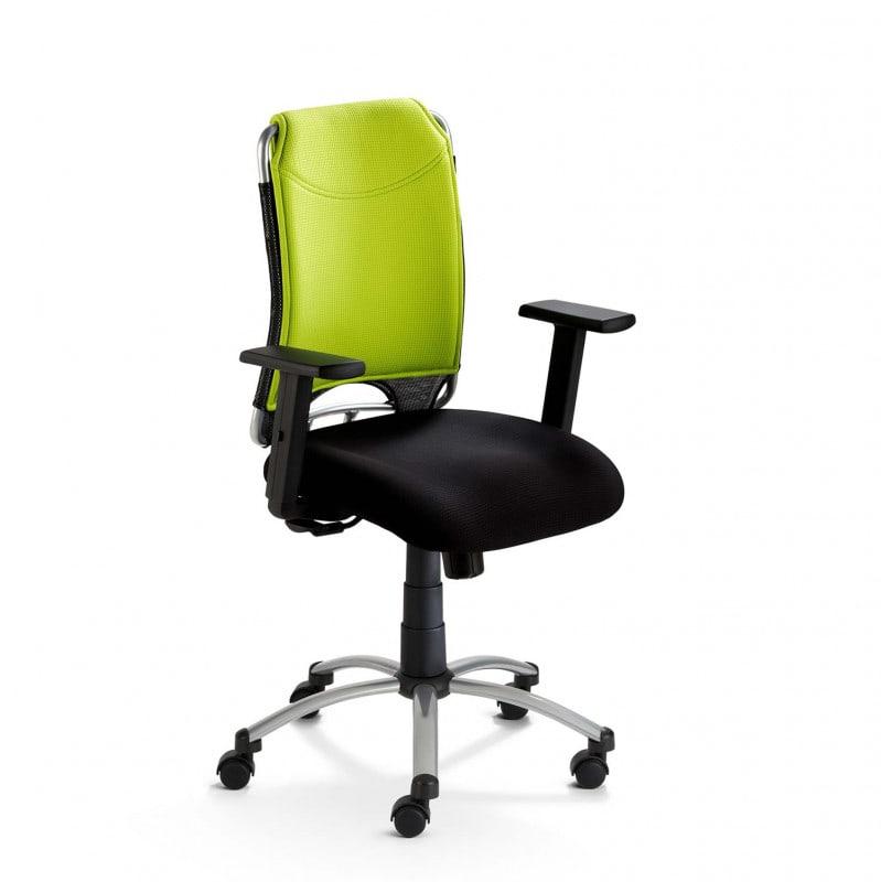 Height-adjustable mySPIRIT swivel chair including castors for carpeted floors