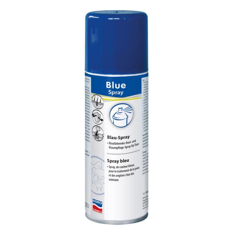 Blauspray zur Pflege und dem Schutz beanspruchter Haut, Hufe und Klauen