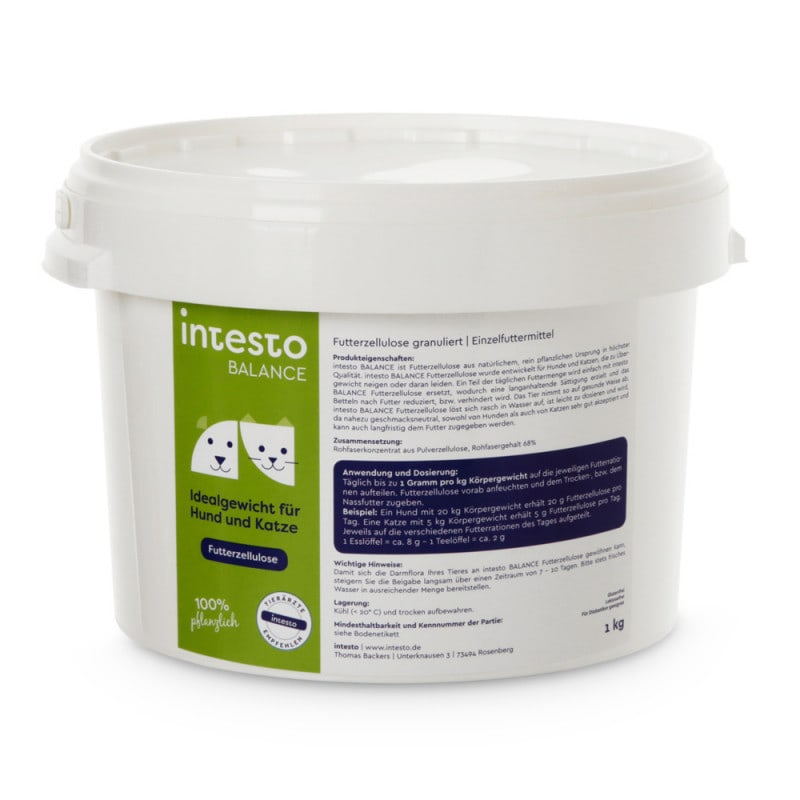 intesto food cellulose for dogs and cats, sustainable cultivation