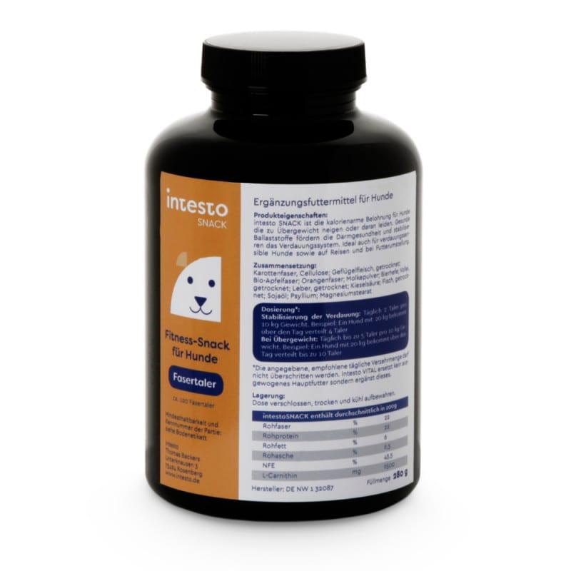 intesto.canine Fasertaler | Ergänzungsfutter für Hunde
