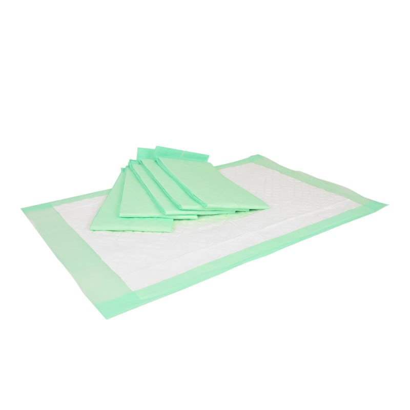 Incontinence pads, softly padded and particularly absorbent