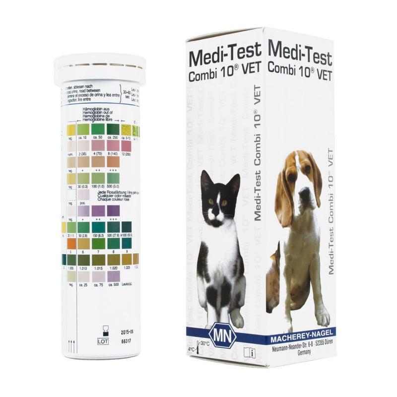 Tiras de prueba de orina Medi-Test Combi 10 VET para medicina veterinaria