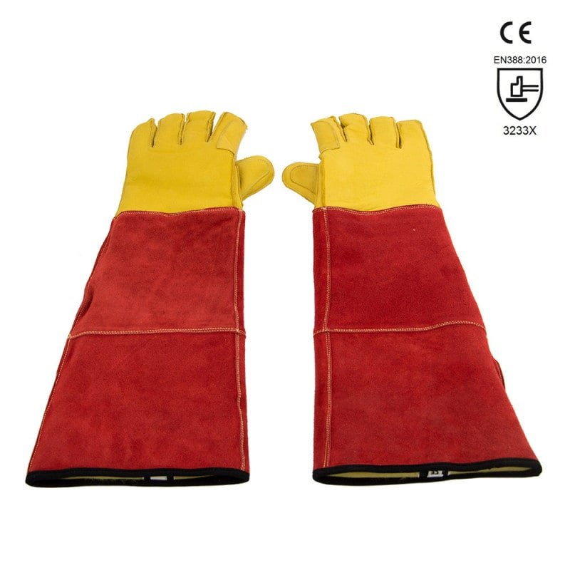 Safety gloves for handling dogs and cats