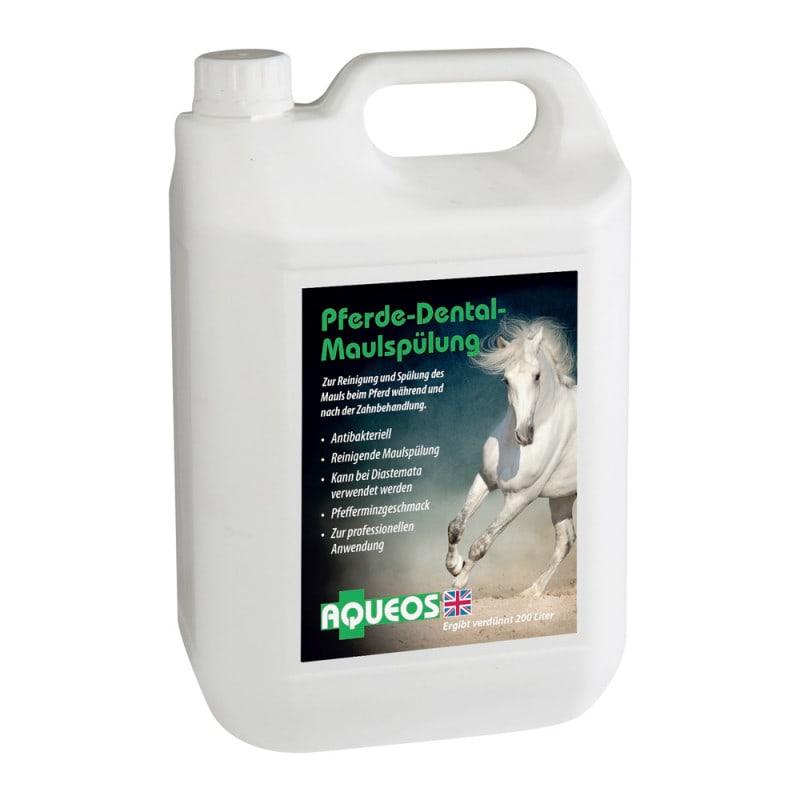 Aqueos Pferde-Maulspülung zum Reinigen und Ausspülen des Pferdemauls