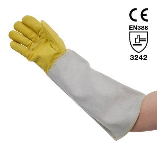 Zertifizierte Schutzhandschuhe aus Glatt- und Rauleder