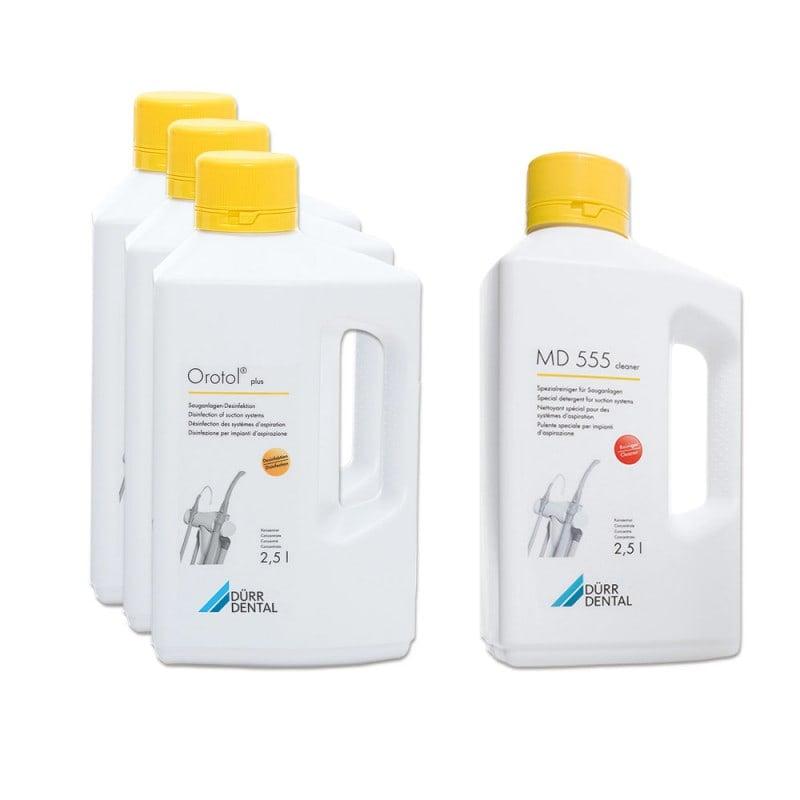Orotol Plus Kombi-Set zur Desinfektion von Absauganlagen