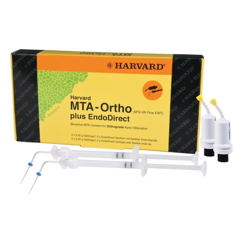 Harvard MTA XR Flow EWT OptiCaps® & EndoDirect-spuit voor het vullen van wortelkanalen