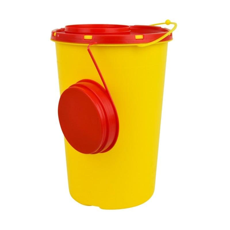 Kanülenabwurfbehälter mit Abstreif-Schlitzen im Deckel, 2 Liter