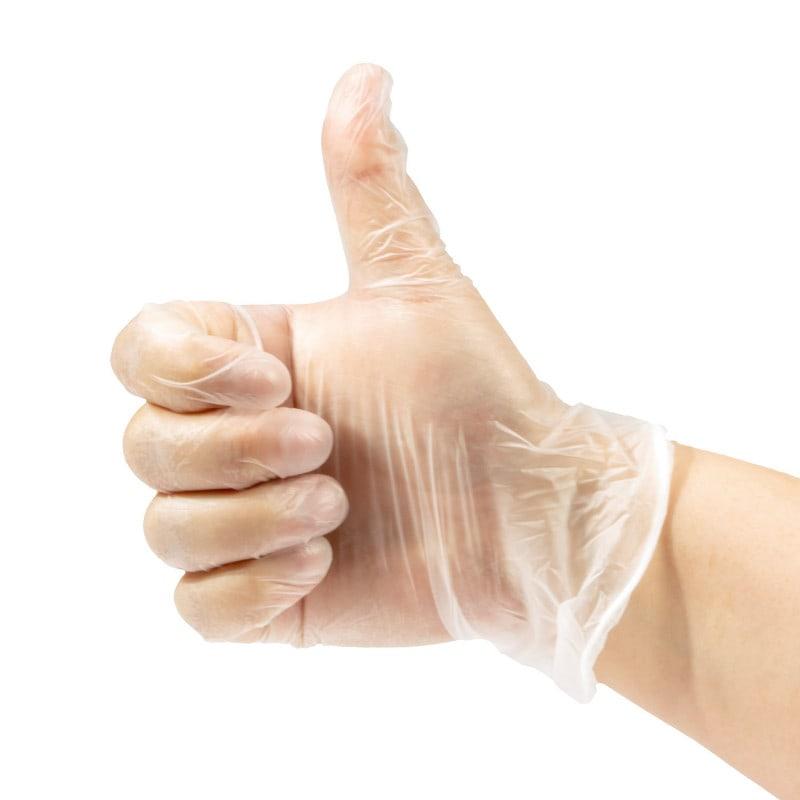 Puderfreie Vinyl-Handschuhe von Teqler gemäß EN 455, 5 Jahre haltbar