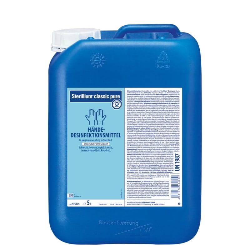 Sterillium classic pure Hände-Desinfektion mit hoher Remanenzwirkung