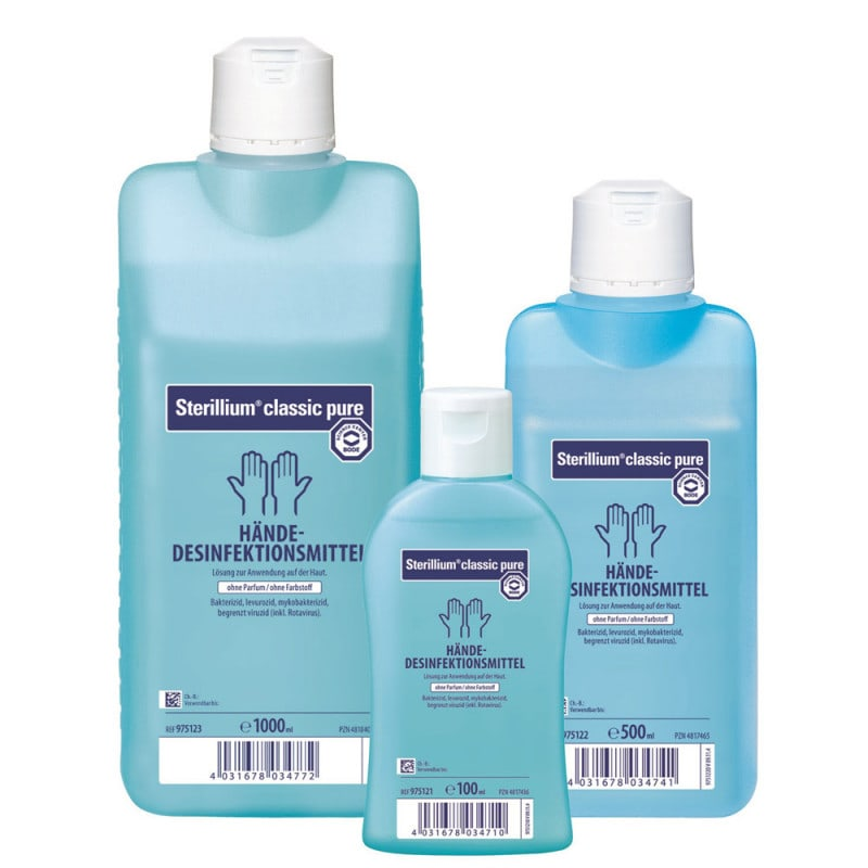 Bode Sterillium classic pure Hände-Desinfektion mit hoher Remanenzwirkung