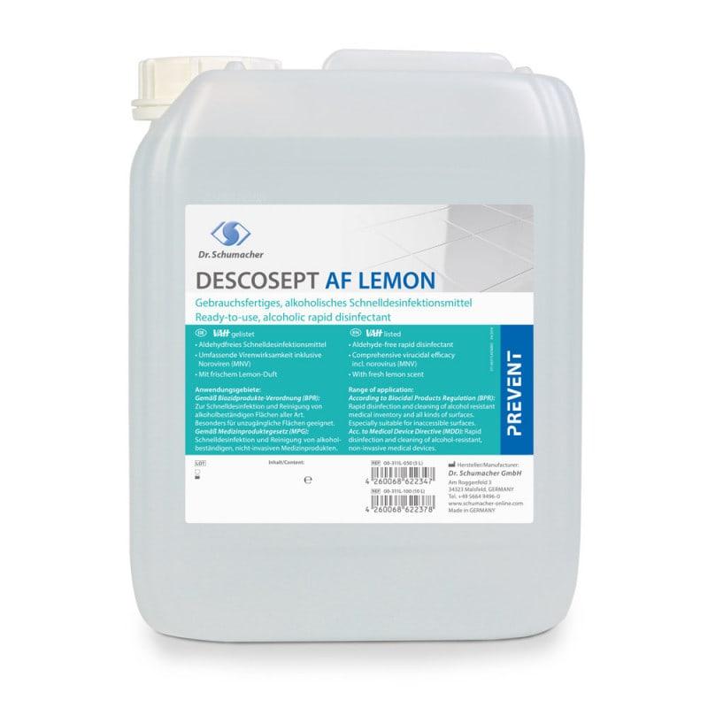 Descosept AF Lemon aldehydfreie Flächendesinfektion mit Lemon-Duft