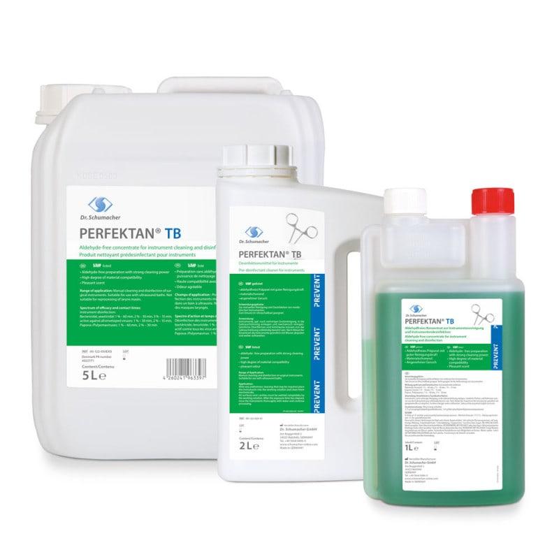 Instrumentendesinfektionsmittel Perfektan TB mit Korrosionsschutz und exzellenter Reinigungskraft