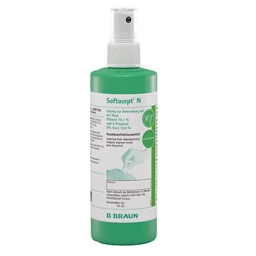Softasept N skin sanitizer with particularly fast onset of action