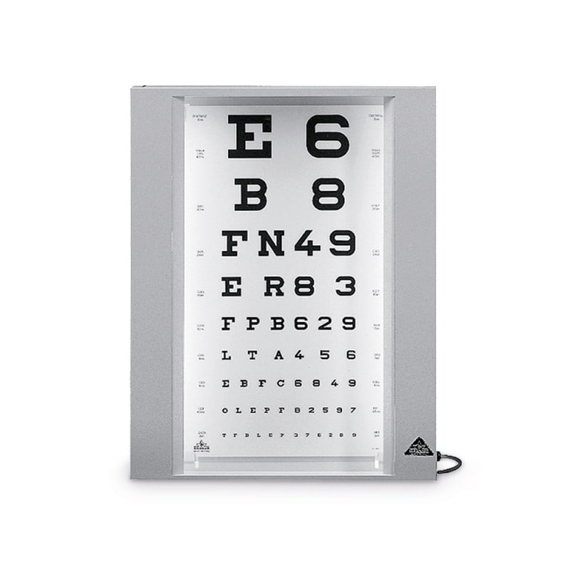 Eye Chart Box Illuminated Eye Test Light Box And Other Sight Tests
