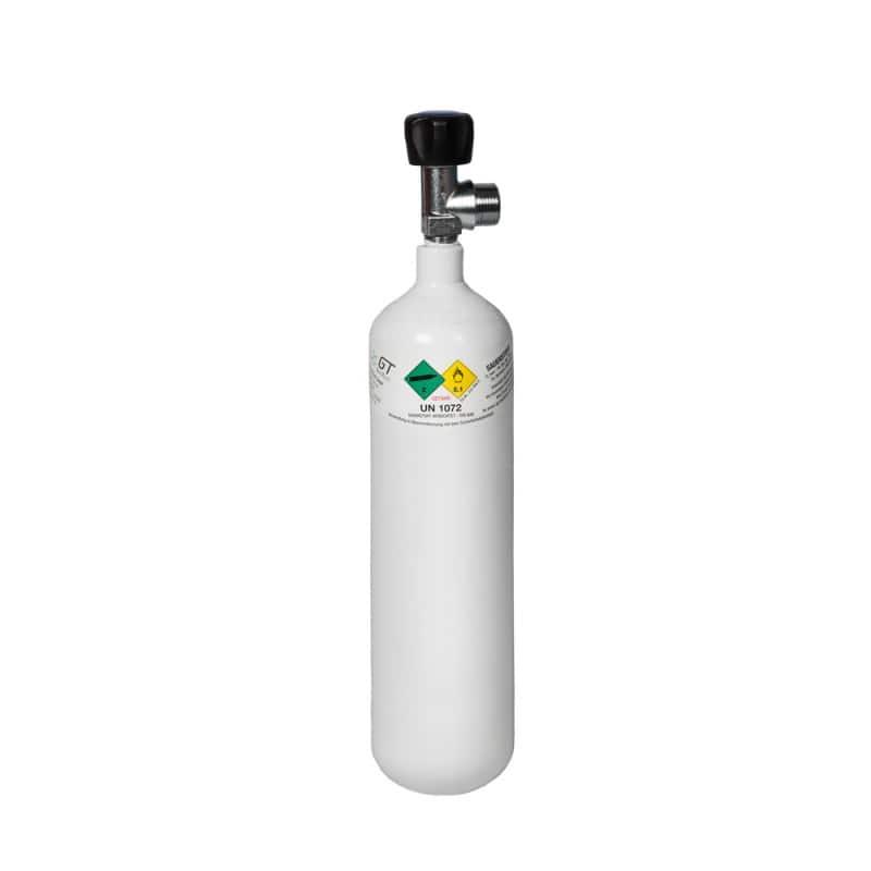 Botella de oxígeno llena
