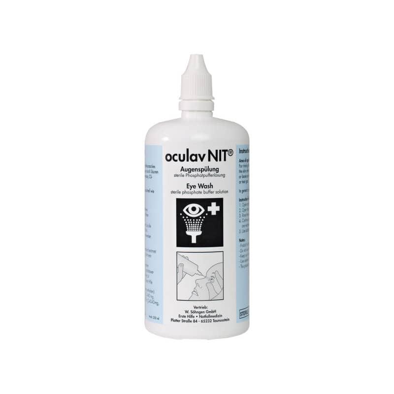 Oculav NIT enjuague de ojos como ayuda inmediata para quemaduras ácidas o alcalinas