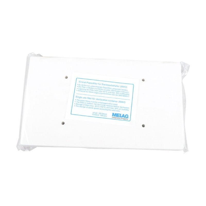 Melag Papierfilter für Sterilisierbehälter, entsprechen der EN 868-2