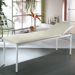 Examination table,  80 cm width, adjustable head section
