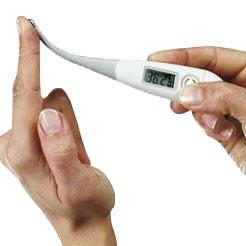 Thermomètre médical avec embout flexible