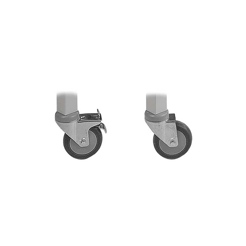 Running castors for specific AGA exam tables, set of 4; two of which are lockable