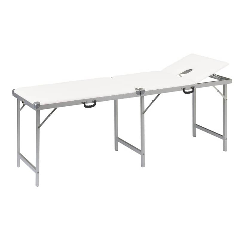 Mobile massage table for use outside of the practice spaces