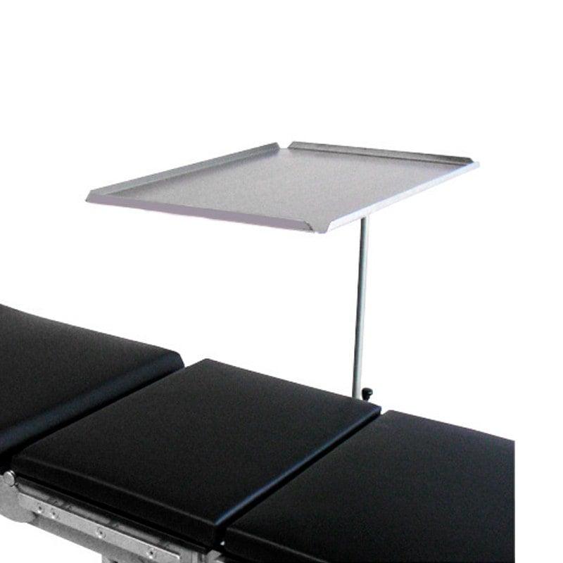 Table d'instruments chirurgicaux pour la fixation à des tables d'opération avec rails DIN