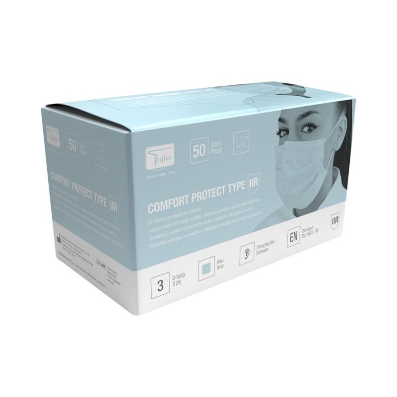 Máscara quirúrgica tipo IIR con alta resistencia a los aerosoles y líquidos