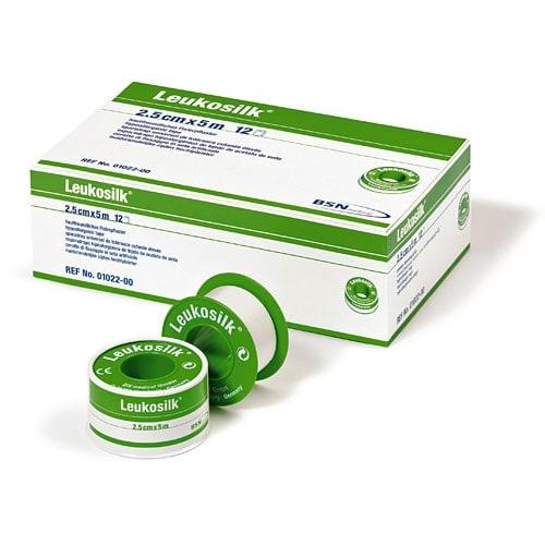 Leukosilk Fixierpflaster für empfindliche Haut, mit guter Klebekraft
