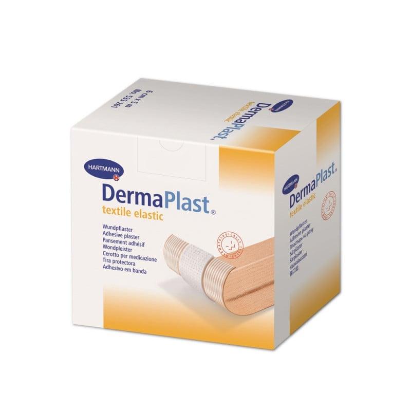 DermaPlast textile elastic Wundpflaster für empfindliche Haut | 5-Meter-Rolle