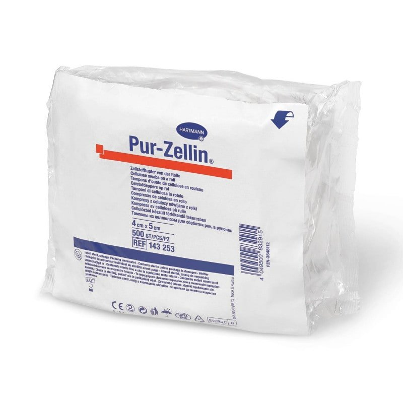 Pur-Zellin Cellulose Swabs