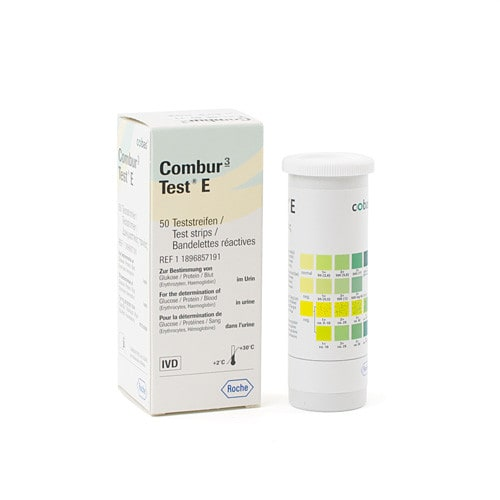 Combur 3 Test E, 50 Urine Test Strips