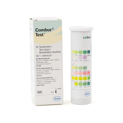Combur 6 Urinteststreifen mit hygienisch langem Haltegriff