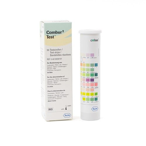 Roche Combur 9 Test | Urinalysis strips for measuring 9 urine parameters