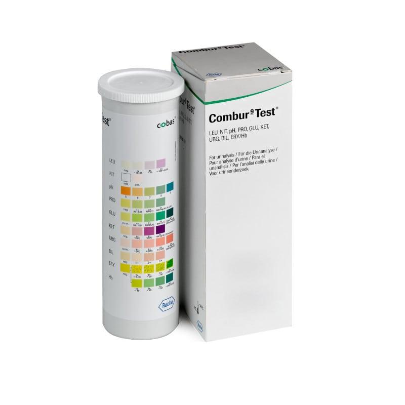 Combur 9 Urinteststreifen mit einfachem, gleichzeitigem Ablesen der Ergebnisse