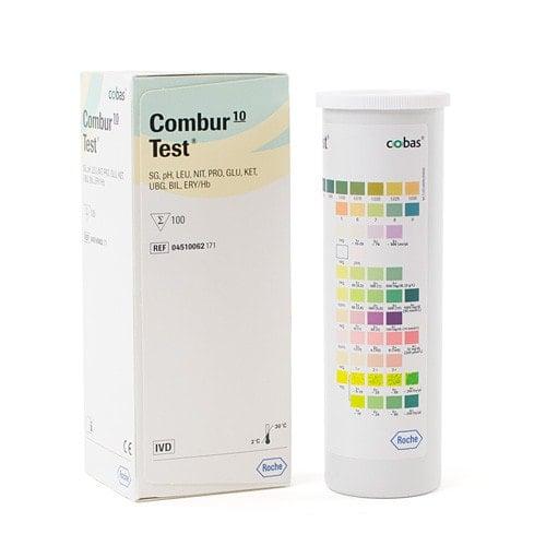 Combur 10 Test mit hoher Sensitivität und langem Haltegriff