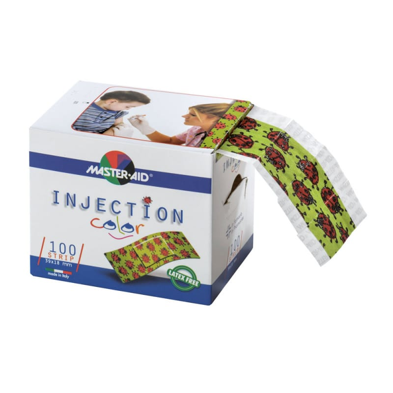 INJECTION color kinder-Injectiepleisters op de rol