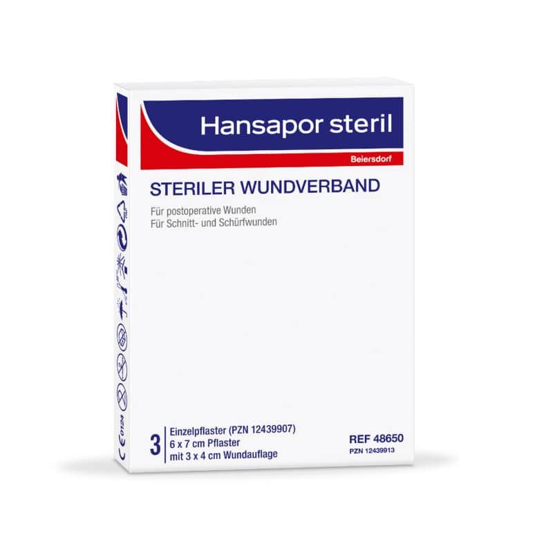 Hansapor steril Wundverband mit saugfähiger, nicht verklebender Wundauflage