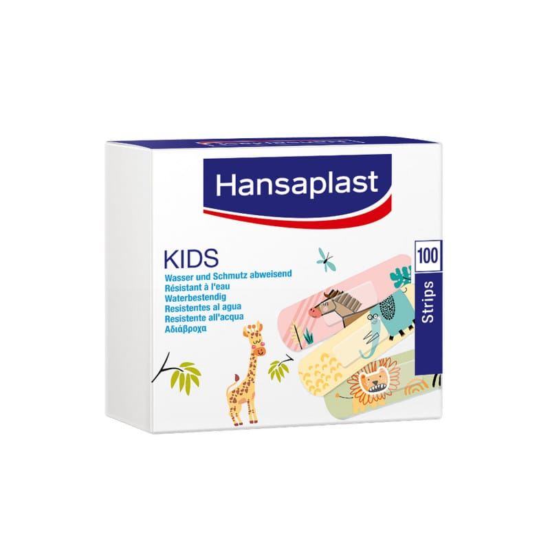 Hansaplast Kids plaster strips with funny comic-style design