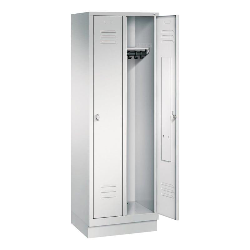 Metall-Garderobenschrank mit 2 Abteilen, in verschiedenen Farben erhältlich