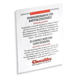 Cleaning card, 1 pack with 5 cards