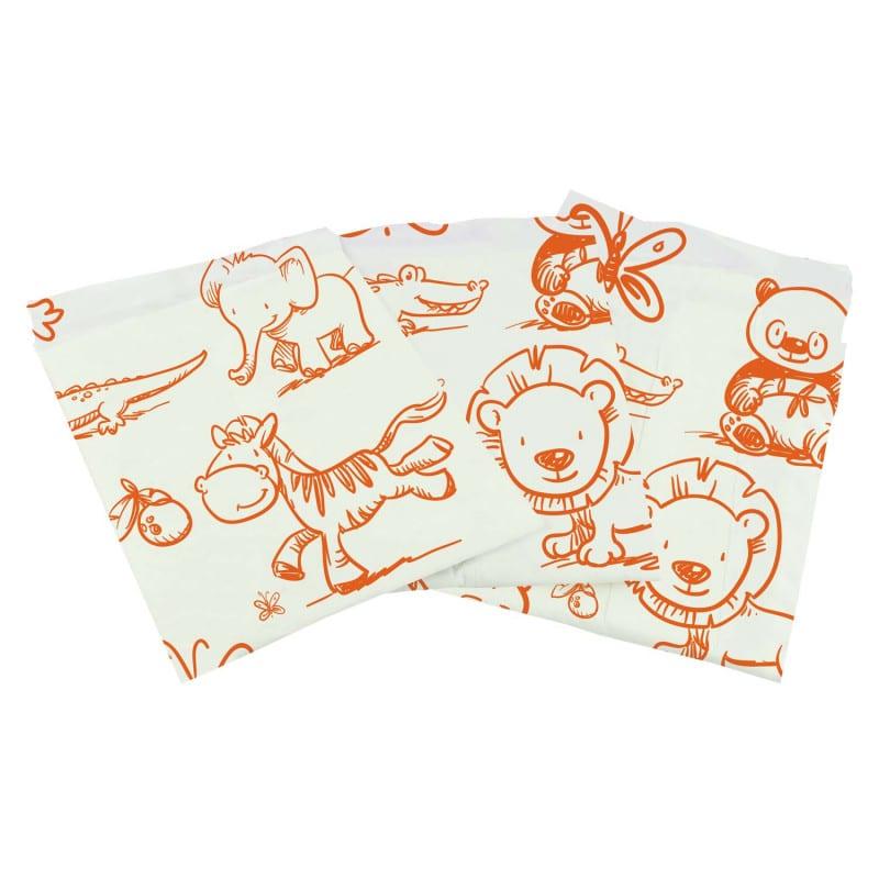 Suaves y absorbentes cambiadores para bebés con estampados infantiles
