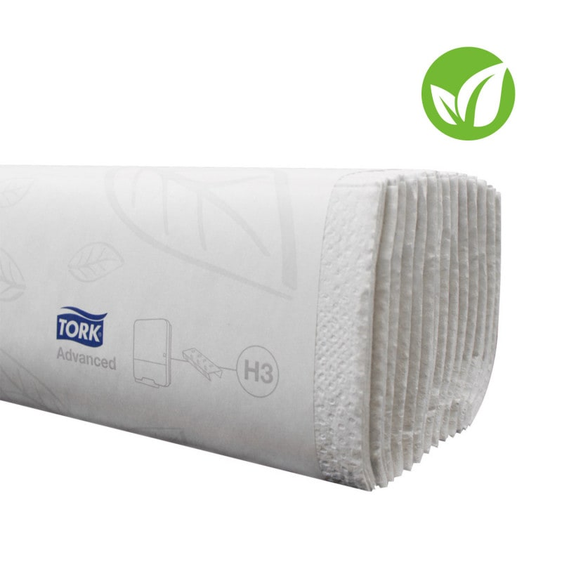 Asciugamani piegati usa e getta Tork, struttura morbida e assorbente a 2 strati