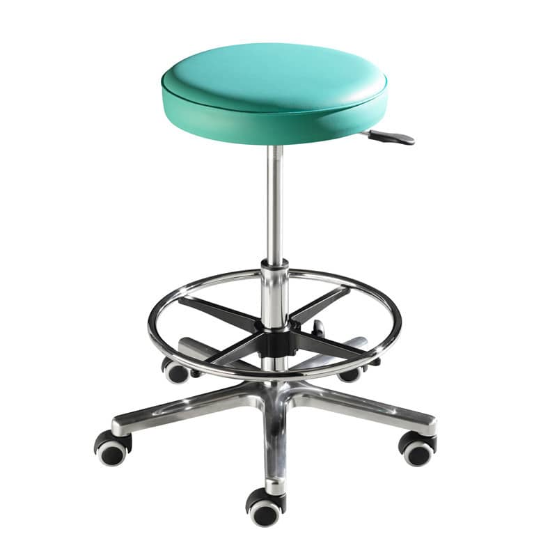Swivel stool for taller people; with adjustable seat height