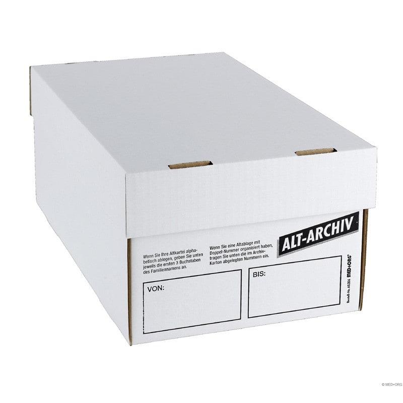 Boite carton d'archivage pour fiches patients