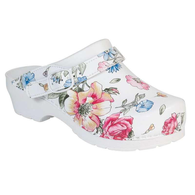 AWC Ladies' Clogs with Flower Print